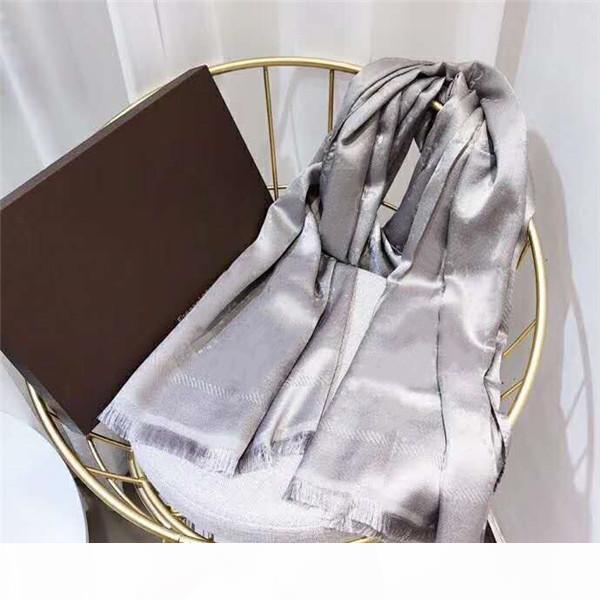 Chaud Selling Silk Foulard Mode Man Femmes 4 Saison Châle Écharpe Lettre Foulards Taille 180x70cm 6 Couleur Haute Qualité