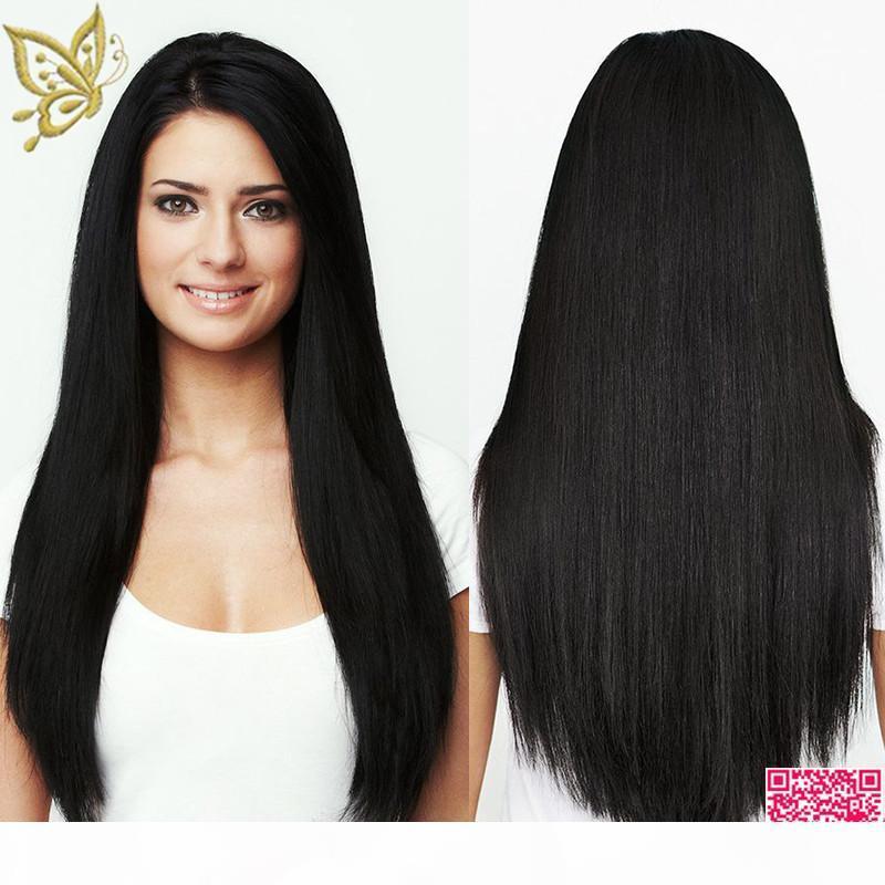 Fertigen Sie koshere Perücke jüdische Perücke brasilianische menschliche Haarperücken Beste Qualität 4 * 4 Seide top keine spitzeperücke menschliche haare natürliche haut