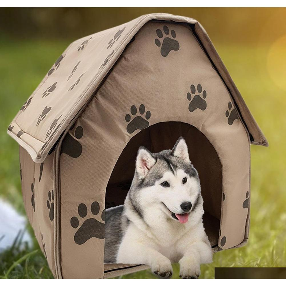 Hot Sale Dog House Delicate Design Foldable Dog House Small Footprint Pet Bed Tent Cat Kennel Travel Dog Accessory Pq4Sb