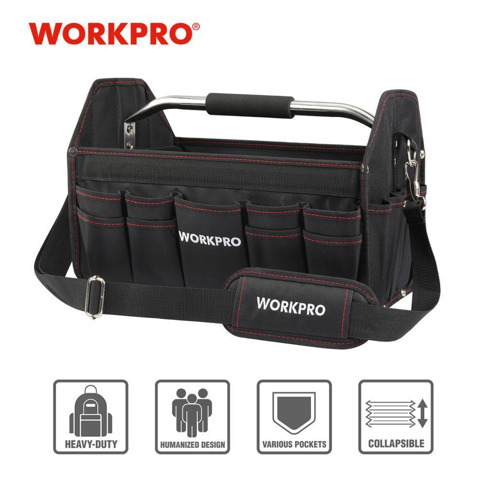 """WorkPro 16 """"600d Bolsa de herramientas plegables Bolsa de hombro Herramienta Organizador Bolsa de almacenamiento Y200324"""