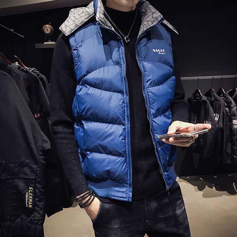 Gilet d'automne automne en coton Version coréenne en coton veste à l'épaule à la mode pour hommes d'hiver en vrac beau épaississement