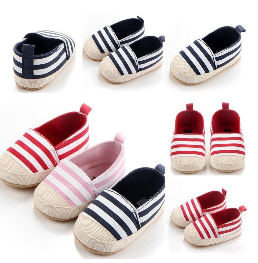 2020 мода полосатые мальчики мальчики девочки детские туфли милые младенческие малыши милые первые ходунки мягкие подошвы до главных дочаток