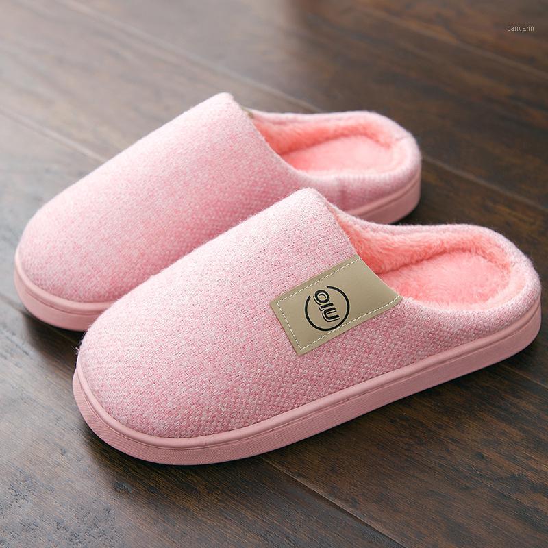 النساء أزياء الشتاء النعال الدافئة قصيرة أفخم النعال الإناث المنزلية الأحذية المنزلية داخلي نوم القطن النعال الأحذية 1