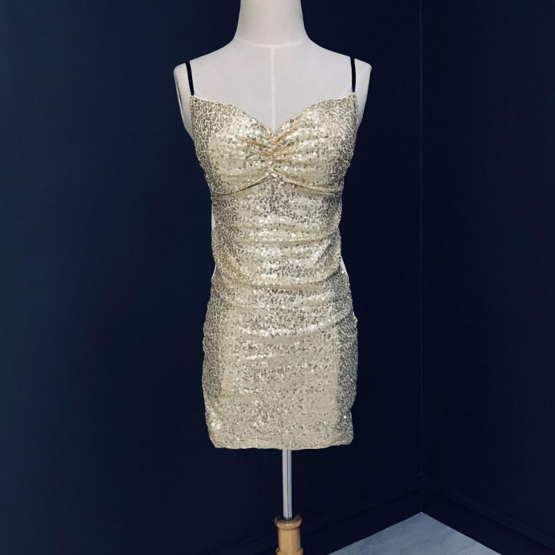 Frauen-reizvolle 2020 V Cut Ausschnitt Silber Pailletten-Minikleid Bodycon Sleeveless Abend-Partei Paillette Riemchen Multiway Kleider