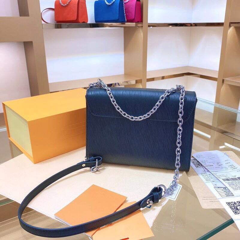 Metal su dalgalanma CrossBodybag mektup Çanta Yüksek Kalite Bag 002 ile Tasarımcı Lüks Çantalar Cüzdanlar Bayan Omuz çantası Gerçek Deri