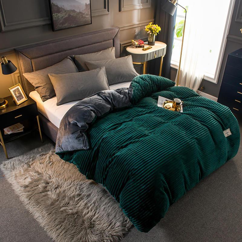 Dual-user Velvet Canapé-lit Canapé-lit double face épais épais couverture respirante respirante douce couverture LJ201128