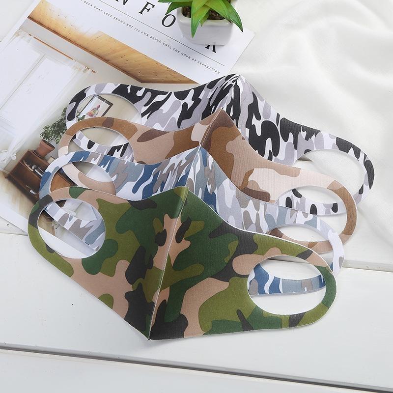 Mask Bocca camuffamento volto DHL aumenta anti-polvere Protezione cotone lavabile per bambini adulti maschere traspirante Outdoor Cyling biciclette Boomin Stock1254