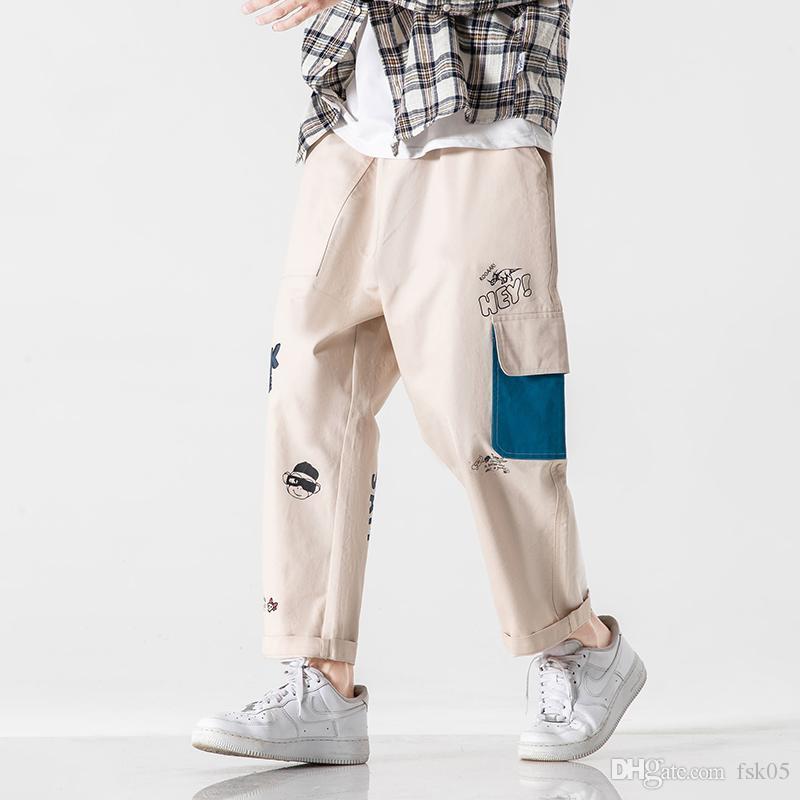 Hip Hop Harem 2020 Primavera Otoño Negro Verde Hombres Pantalones Fashions Joggers Casual Sweetpants Track Men's Sweat Pantalón