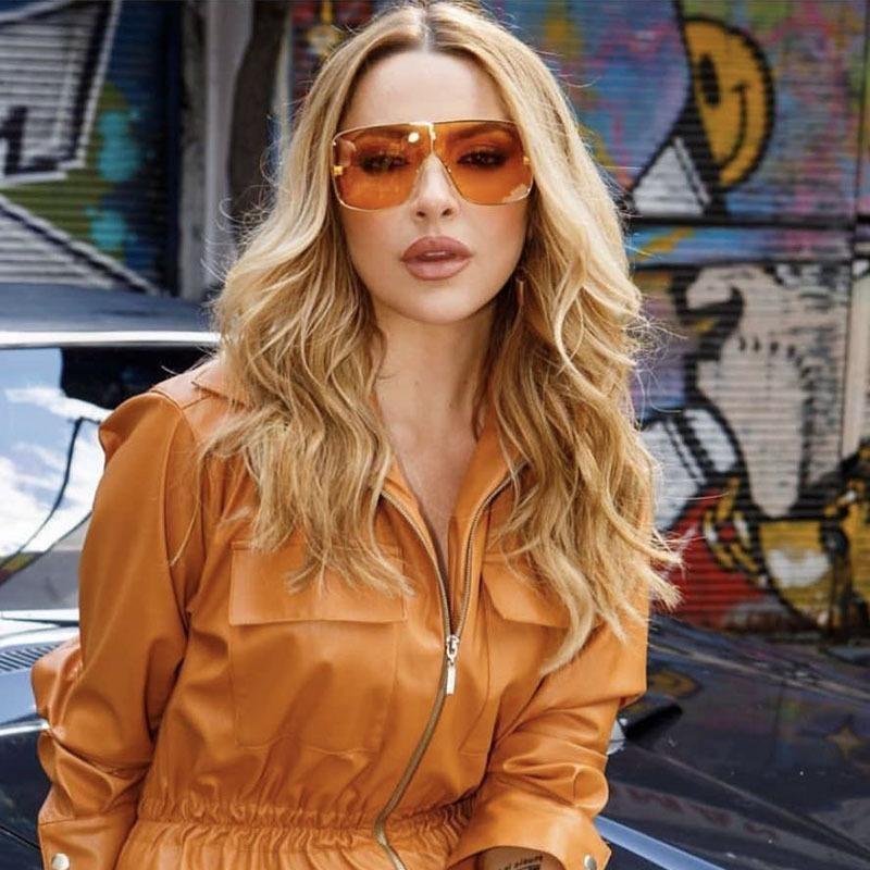 AOZE2020 Spector diseño único gran tamaño del marco Gafas de sol hombre de alta calidad de las gafas de sol Grandes mujeres de la marca de moda ins populares UV