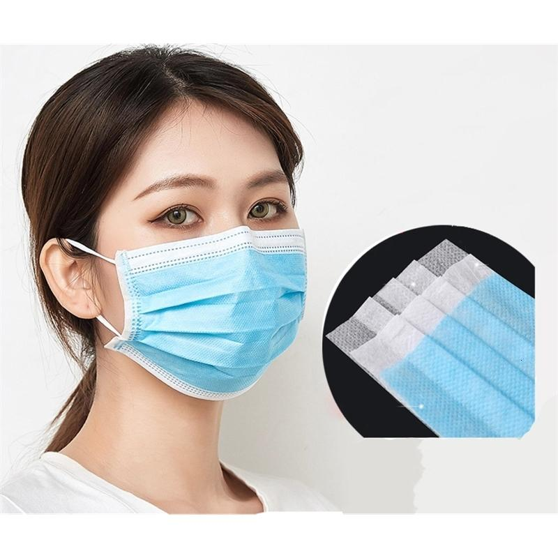Outlet Face Face Mask Ship!Wholesale Mask 3Ply Protective Face Masks Anti Dust Breathable Outdoor#900