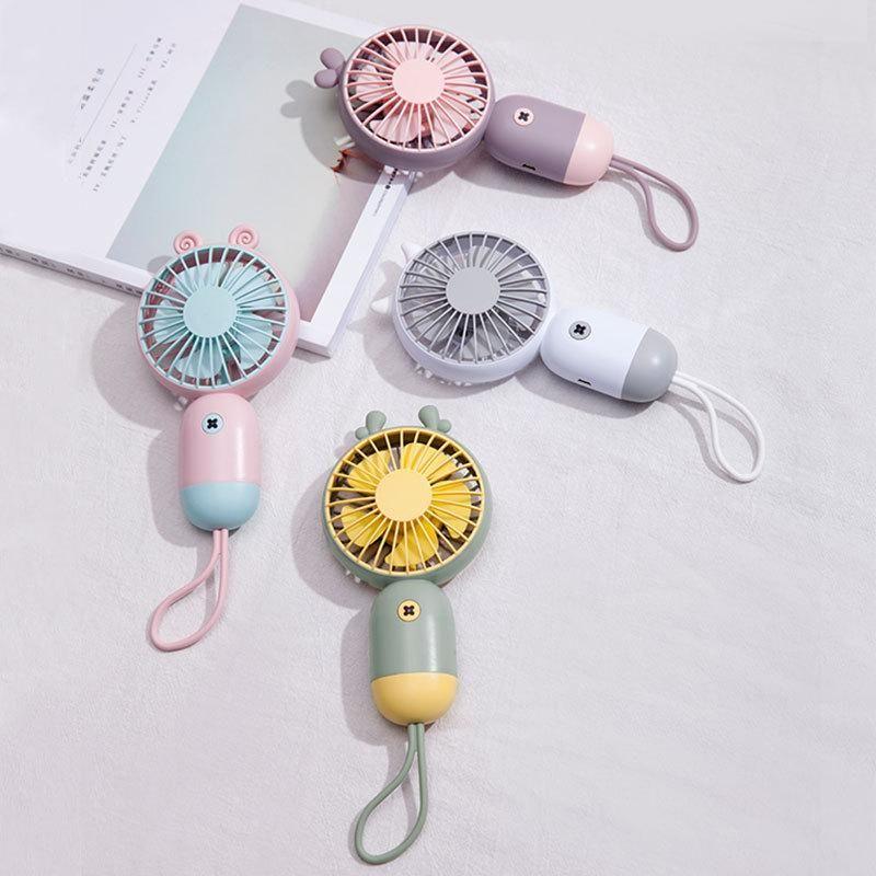 Sevimli el fan, USB şarj, taşınabilir rüzgar enerjisi ultra-sessiz mini çok fonksiyonlu elektrikli fan