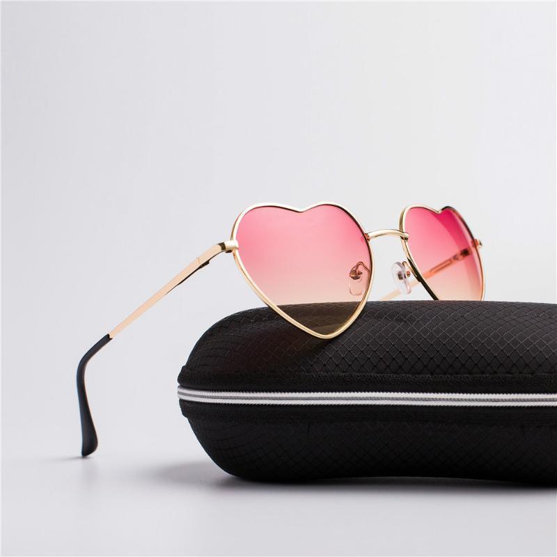 Güneş Gözlüğü Vintage Kalp Kadın Marka Şeker Renk Moda Degrade Güneş Gözlükleri Açık Gözlük Partisi1