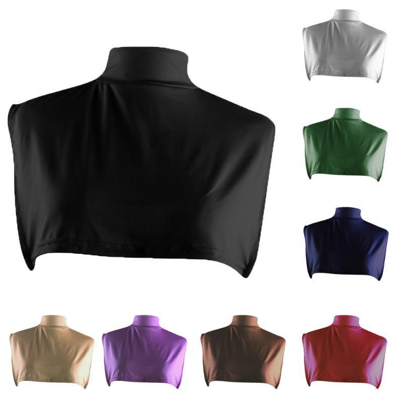 Neue Frauen Gefälschte Kragen Muslimische Islamische Hijab-Hals-Brustabdeckungen Rollkragenschal Schal Lätzchen Falsche Halsbänder Arabisches Saudi-Kleidung Zubehör