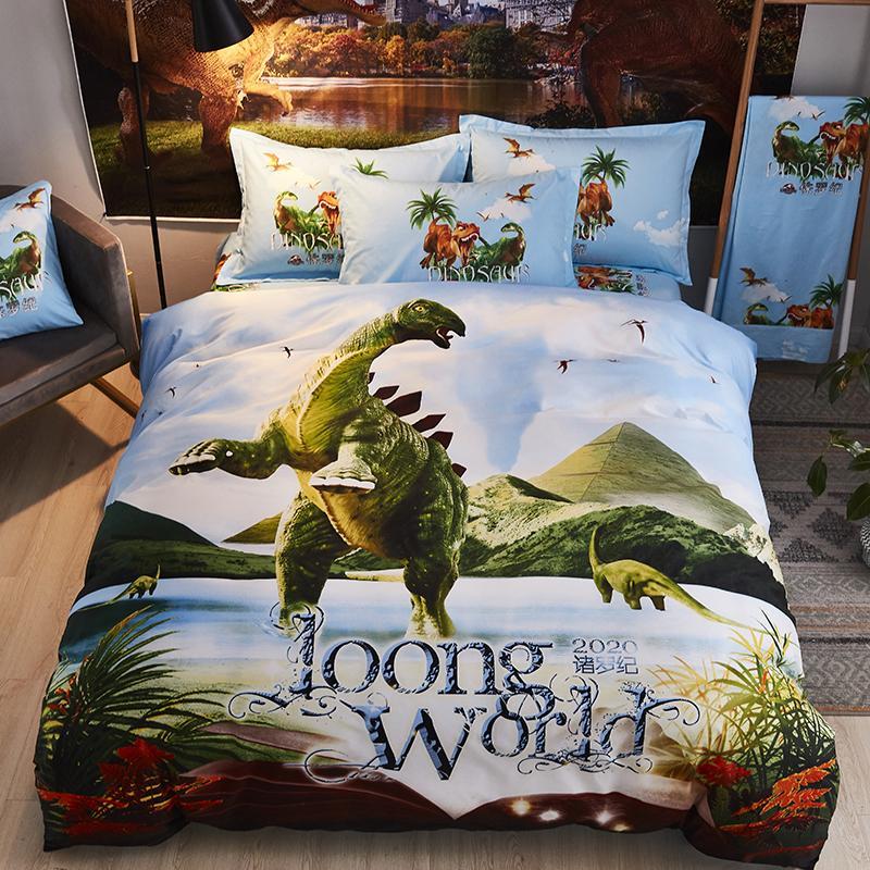 Dinosaur biancheria da letto di moda i bambini letto di Stegosauro dimensione doppia 3pcs regina California King trapunta copertura piana foglio Federe 4pcs 031