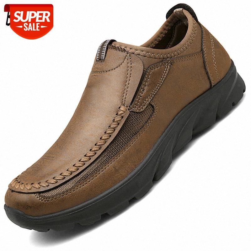 Brand Men's Casual Shoes Breathable Men Loafers Leather Handmade Retro Male Moccasins Suede Men Driving Shoes Soft Footwear #mU4h