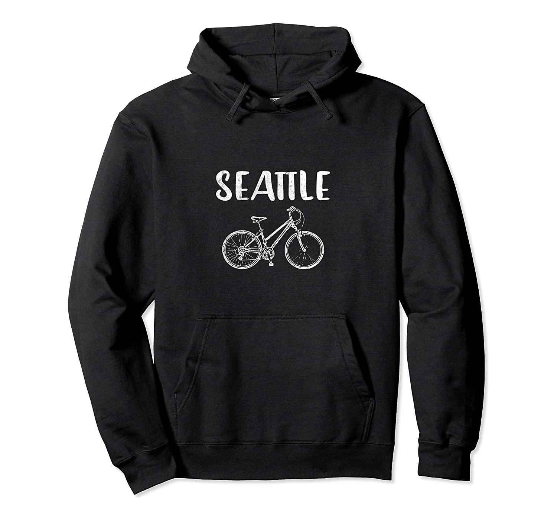 Bike America in bicicletta: SEATTLE BIKE T-SHIRT Pullover con cappuccio unisex di formato S-5XL con colore nero / grigio / blu / azzurro reale / Scuro Heather