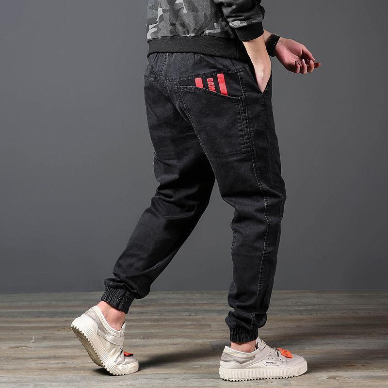 Pantalones Denim Pantalones sueltos de hombre Harlan Pantalones grandes Coreanos Moda coreana Herramientas informales