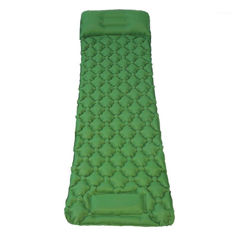 Playa de la estera durmiente inflable ultraligera con la almohada Mochilero de la almohada Senderismo Viaje Impermeable Nylon Bomba al aire libre Camping Bed 31
