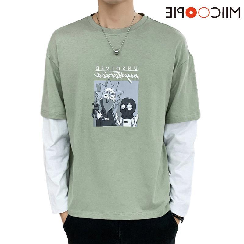 Мода мужская рубашка Rick и Morty Thybress молодая уличная одежда бейсбол шить футболку с длинными рукавами Harajuku для мужской бренд одежды