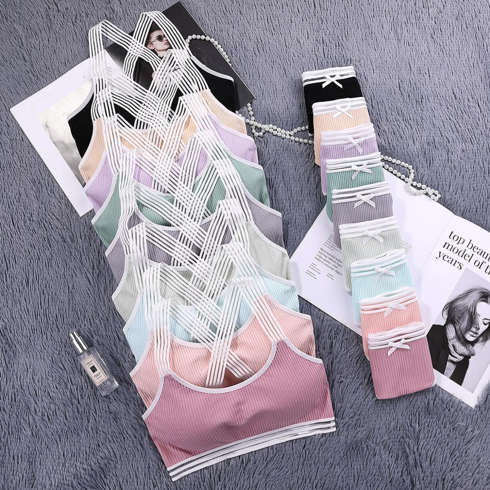 Nueva confortables sostenes de las mujeres de la ropa interior de la moda para las mujeres empuja hacia arriba el sexy conjuntos de ropa interior sin hilos