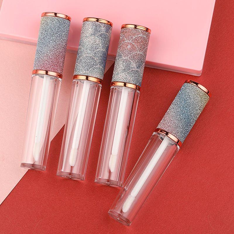 الأوائل قوس قزح إفراغ Lipgloss أنابيب حاويات، زجاجات بلسم الشفاه إعادة الملء لمكياج DIY مثل عينات الشفاه، بلسم الشفاه محلي الصنع