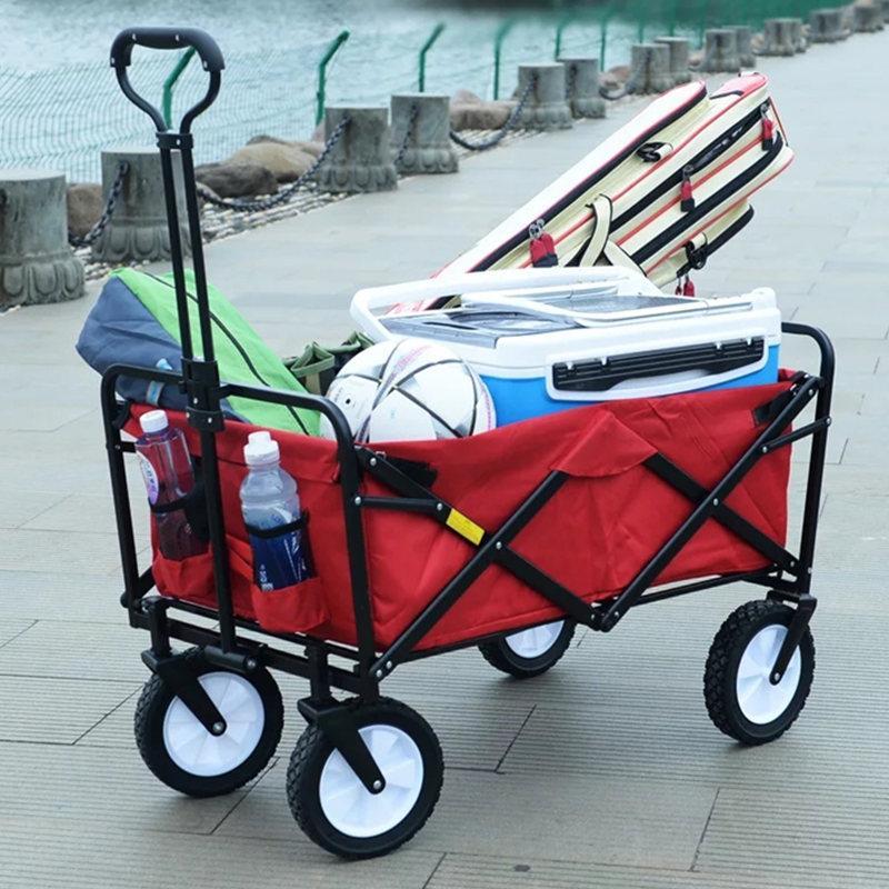 ALWAYSME Folding Außen-Hilfsfaltendes Einkaufswagen Folding Einkaufswagen Kofferkuli Wagen für Reisen und Einkaufen