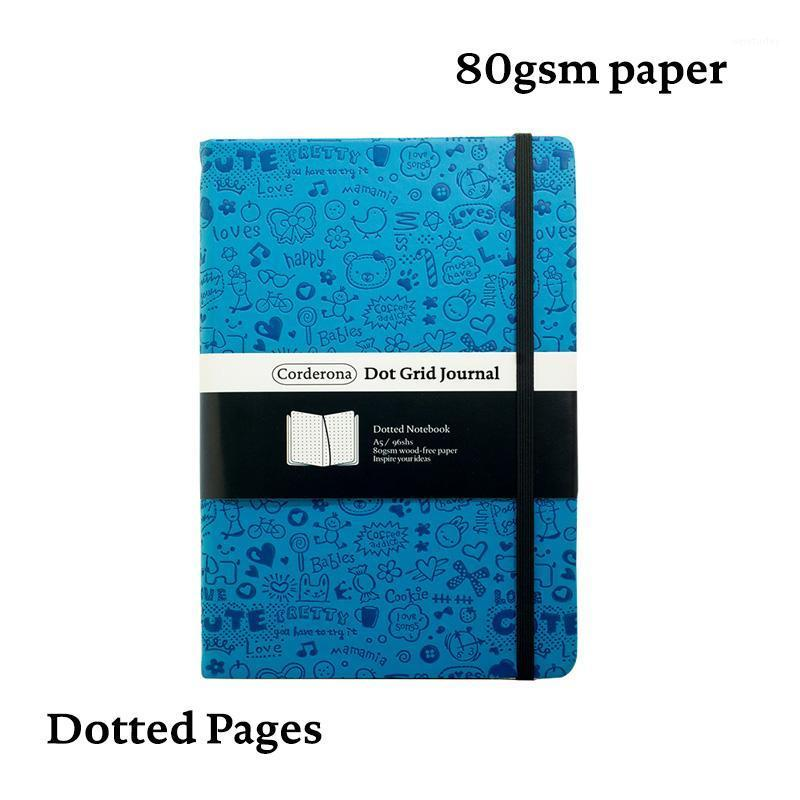 Notepads Magic Girl A5 Dotted Notebook Dot Groid Journess Cover Hard Diary Travel Planner1