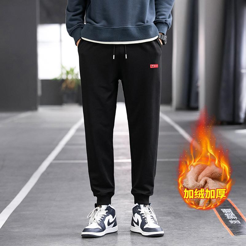 Winter-Plüsch-Hosen Herren-koreanische Mode-Sporthosen verdickt Strickwaren Hosen Modemarken beiläufige breiten Beine Hosen
