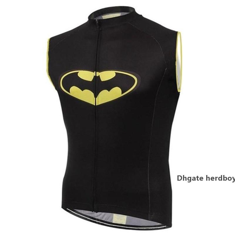 2021 Batman Cycling Vests New Super Hero Sleeveless Cycling Jerseys Men Bicycle Clothing Bike Quick Dry Cycling Sports Super Hero Shirt