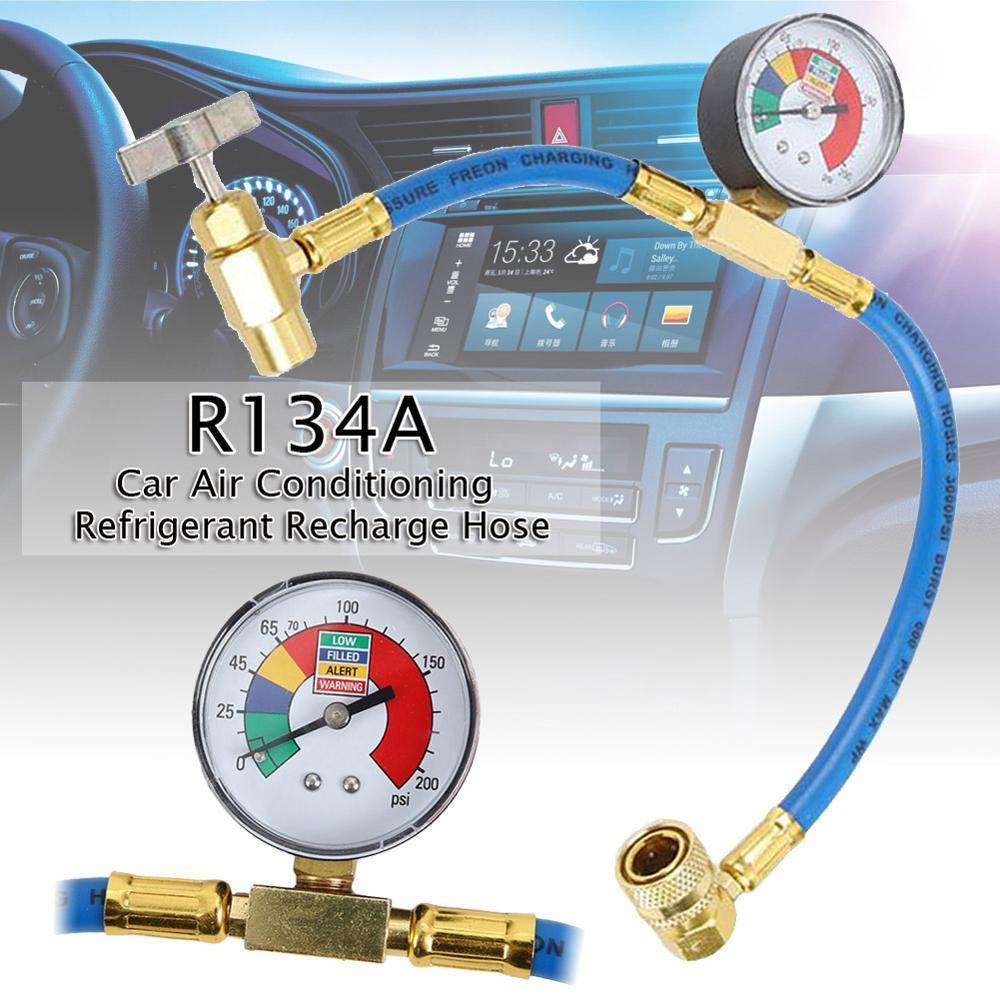 600psi recarga tubo de medição instrumento de medição da válvula de arrefecimento tubo de R134a automóvel ar condicionado