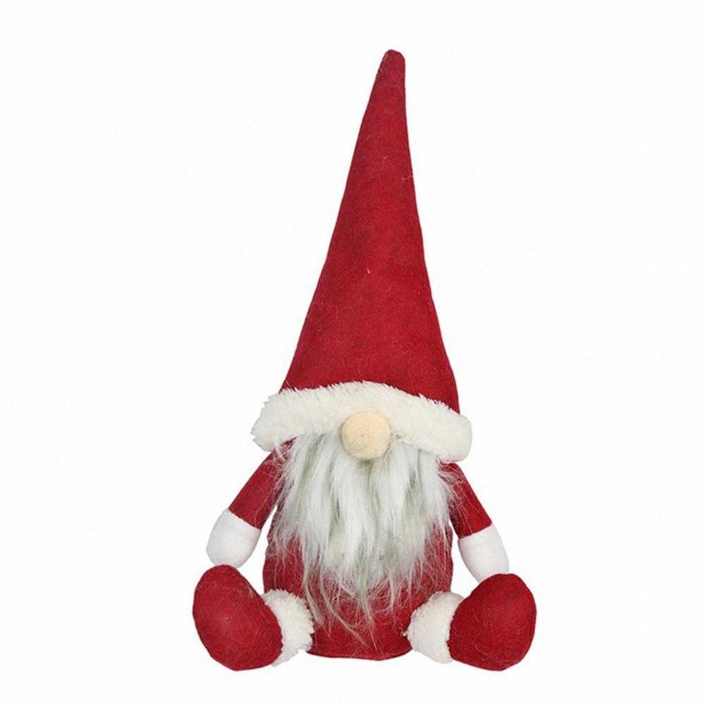 Arbre de Noël Décor Nouvel An Ornement Faceless Poupée Vieillard Fenêtre Ornements cadeau d'anniversaire pour la maison de vacances de Noël E1tG #