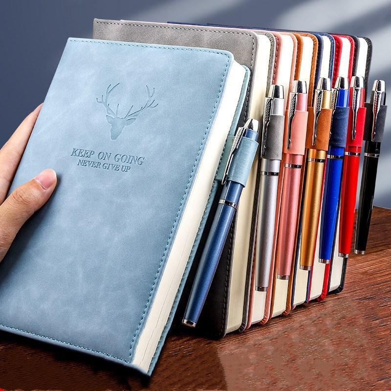 Notepads A5 Notebook Rétro Diary Diary Notepad Littérature PU Cuir Note Remarque Livre Papeterie Cadeau Voyageuse Journal Planificateurs École de bureau Fournitures de bureau