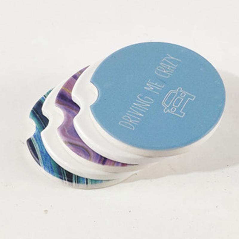 Sublimação em branco Cerâmica Carro porta-copos 6,6 * 6,6 centímetros Transferência quente impressão Coaster branco Consumíveis Materiais preço de fábrica EEA2086-1