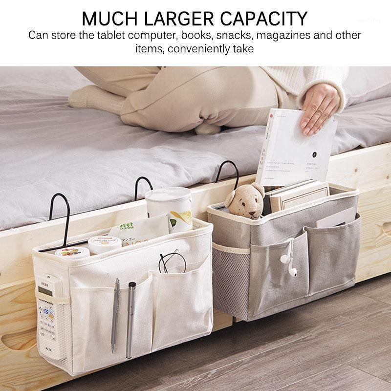 Ткань холст висит сумка для хранения кармана Pocket Organizer1 Журнал подгузника Держатель хранения Caddy Toy Box Box спальня младенца домашний прикроватный GPDQK