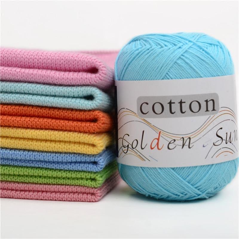 50g / ball pettinato bambino molle del filato 100% cotone filato a mano filato per maglieria del Crochet del cotone a Infant Sweater Blanket JK486 C1030