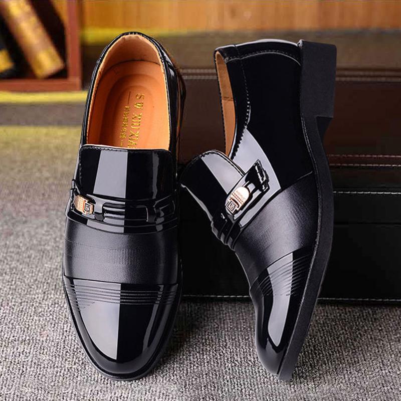 REETENE Fashion Business Slip formelle sur la tenue vestimentaire des hommes de haute qualité Chaussures à lacets Chaussures en cuir pour Men38-48