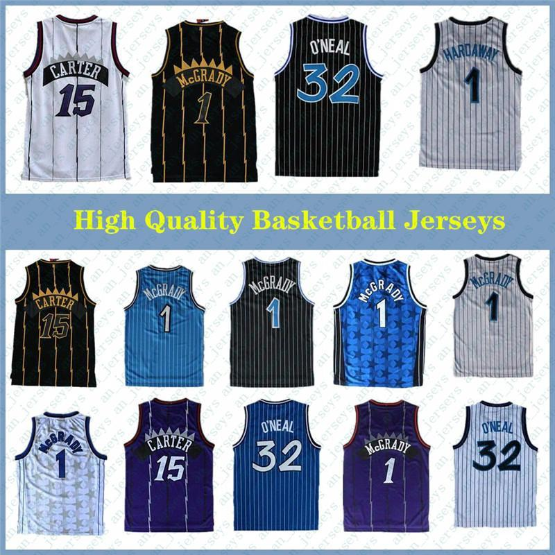 NCAA High-Quality 32 O'Neal Jersey Penny 15 Carter Jerseys Tracy 1 McGrady Jerseys Stitched College Shirts Mens Vince 1 Camicia in vasta vacanza Baska