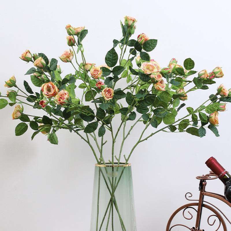 FLONE 9-testa floreali artificiali fiori di nozze decorazione fiori decorazioni per la casa soggiorno falso rosa, fiore