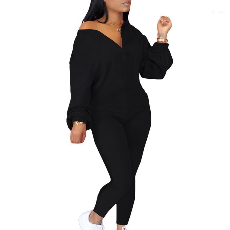 الجمنازيوم الملابس الصلبة الرمز البريدي جولة الرقبة طويلة الأكمام بذلة للنساء منحرف طوق عارضة الأزياء الجسم دعوى do21