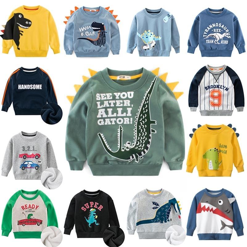 Cartoon-Kinder-Sweatshirt für Mädchen-Sweat-Hemd-Hemd warm plus Velvet-Kind-Sweatshirt für Jungen Kinder Hoodies Baby Winter-Kleidung 15 201222