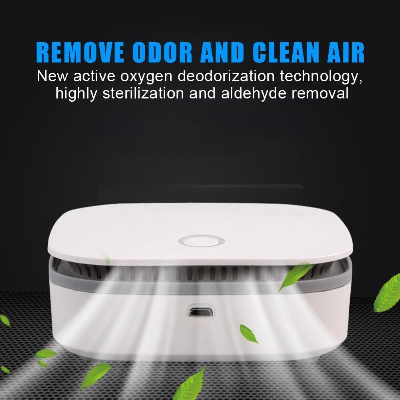 Mini purificatore d'aria portatile astuta Frigo Freshen Filtro dell'aria dell'ozono Anione Generator USB ricaricabile della casa della cucina Chiaro Odore