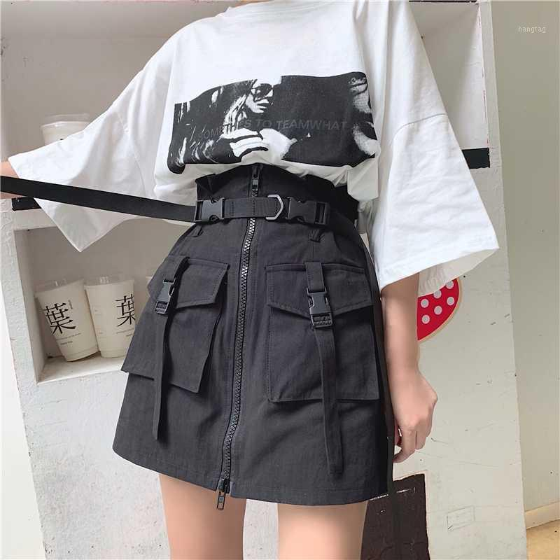 2020 Sommer New Sexy Vintage Harajuku Stil Dünne Hohe Taille Rock Frauen1