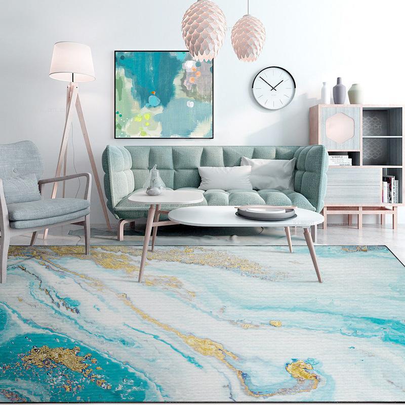 Nórdico moderno salón piso alfombra de agua de mar Tatuaje Tatuaje doméstico habitación habitación dormitorio lleno alfombra cocina baño anti-patín