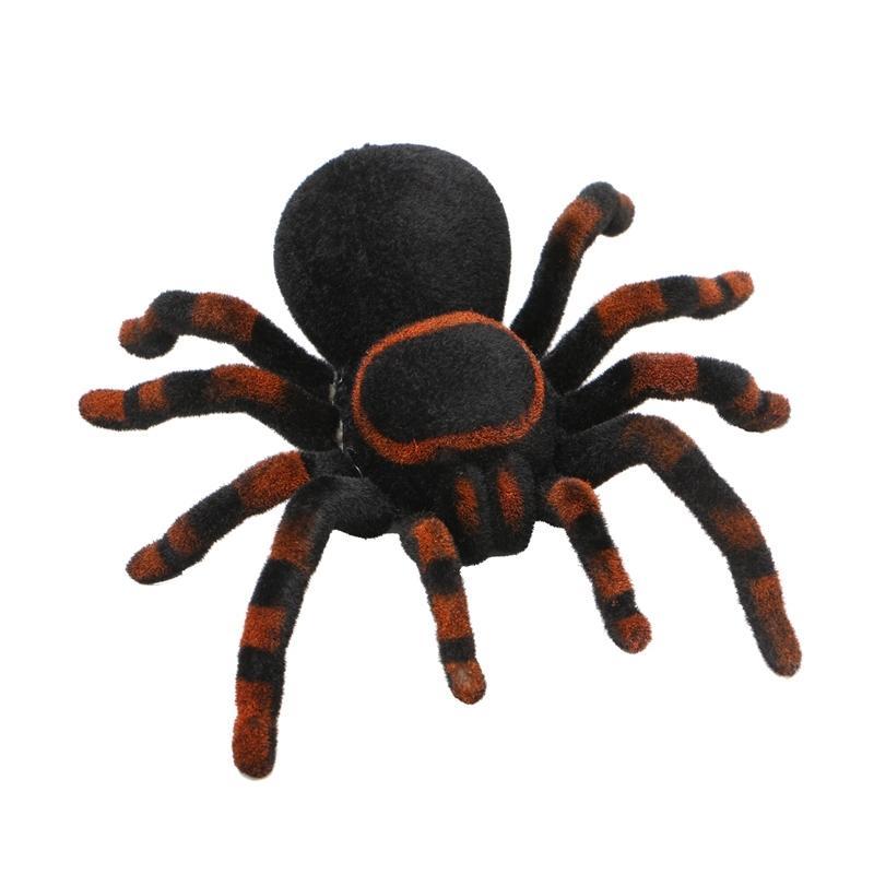 Halloween feriado simulação controle remoto aranha realista rc aranid brilhar olhos tricky assustador brinquedo engraçado brincadeira presente y200428