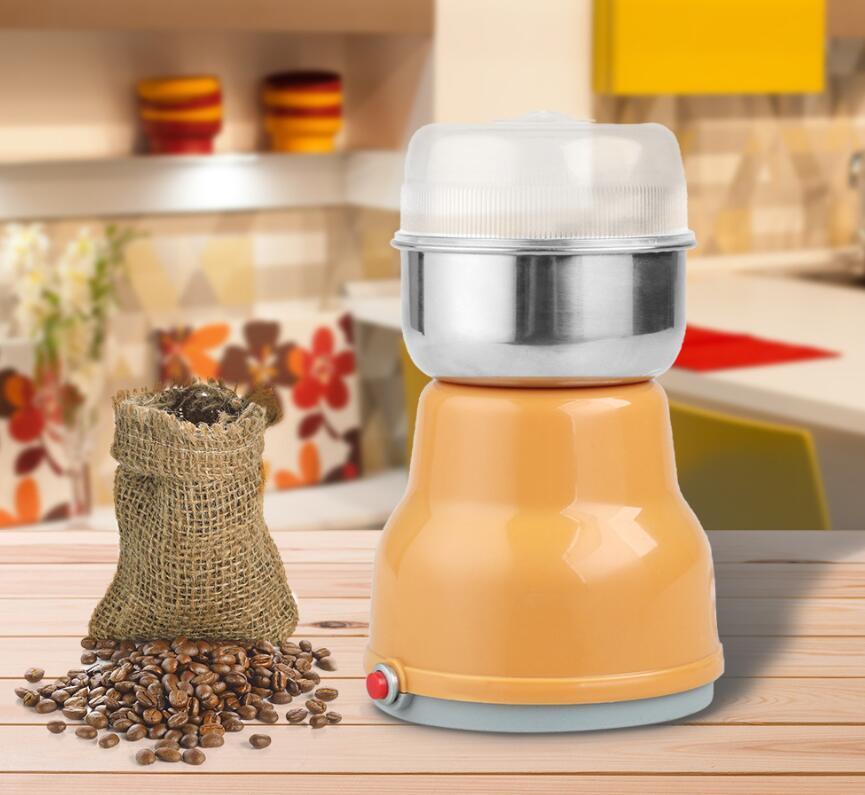 Nuovo 17 * 11 cm elettrico in acciaio inox di acciaio inox chicco di caffè macinacaffè caffè accessori caffè eu tappo caffette marittimi da trasporto marittimo DHE3798