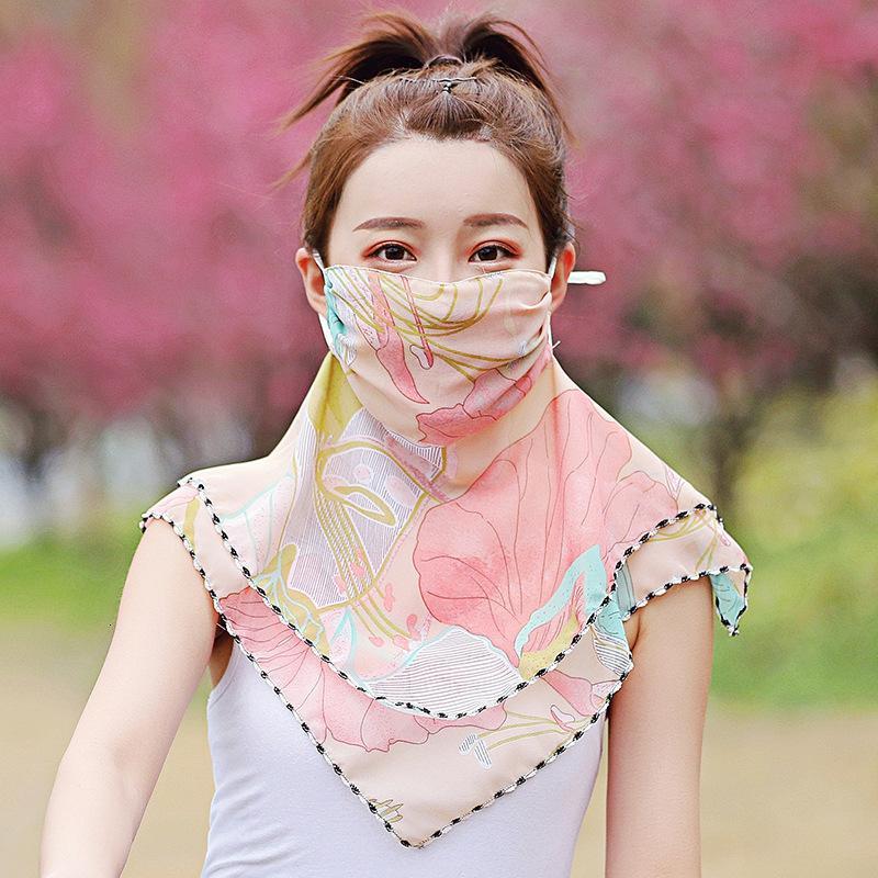 الربيع الصيف تنفس الحرير وشاح مريلة المرأة ركوب القيادة غطاء الوجه والرقبة الشيفون رقيقة الحجاب قناع واقية من الشمس