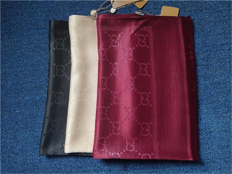 2020 Silk Scarf Fashion Man Women 4 Season Shawl Scarf Letter Scarves Size 180x70cm 6 Color High Quality