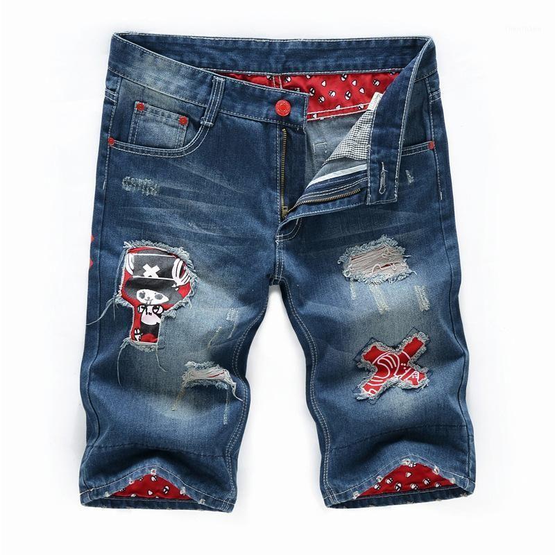2020 Summer Brand England Style Straight Vintage Designer Designer da uomo Jeans Denim Jeans Fashion Retro Waving Rovered Hole1