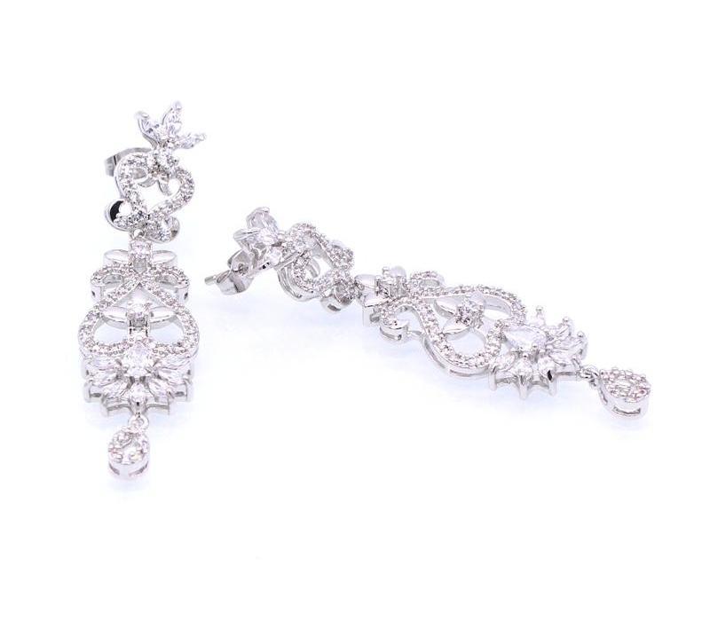 Jinyao orecchini di lusso per le donne nuziale scintillanti zirconi Strass Orecchini Wedding Accessories2248205204