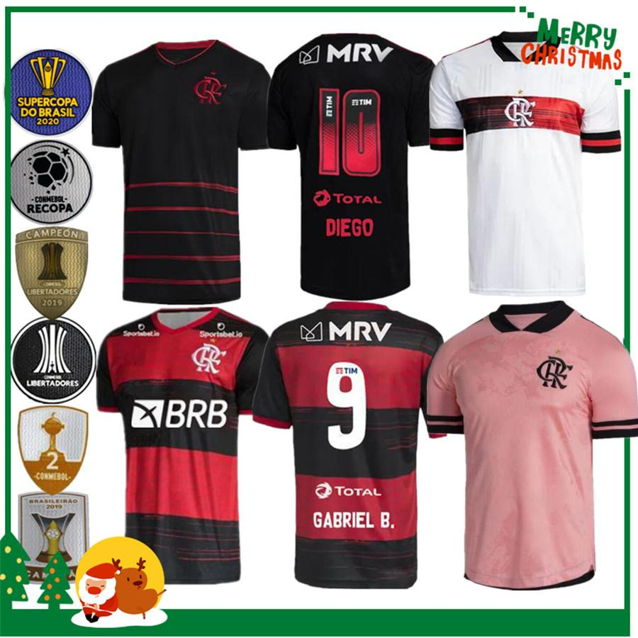 20 21 flamengo Jersey 2020 2021 GUERRERO DIEGO VINICIUS JR Fußballjerseys Flamengo GABRIEL B Sport Fußball Männer und Frauen Hemd